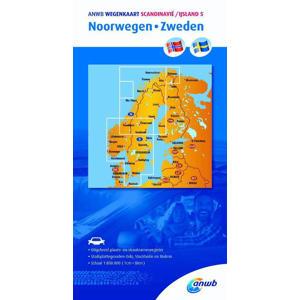 ANWB wegenkaart: Scandinavië/IJsland 5. Noorwegen/Zweden - ANWB