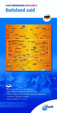 ANWB wegenkaart: Duitsland 5. Duitsland zuid - ANWB