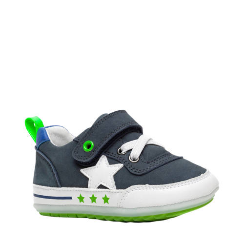 Scapino Groot leren babyschoenen blauw