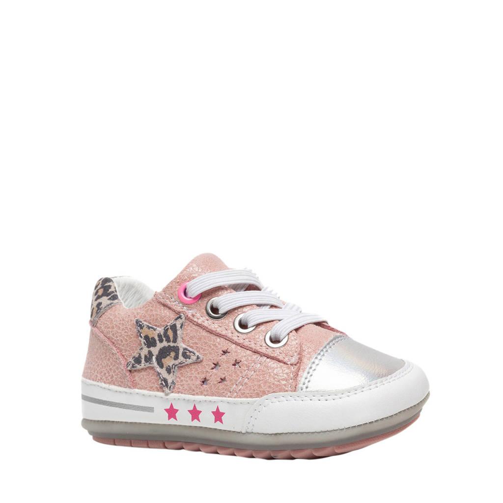 Scapino Groot   leren babyschoenen roze, Roze/Zilver