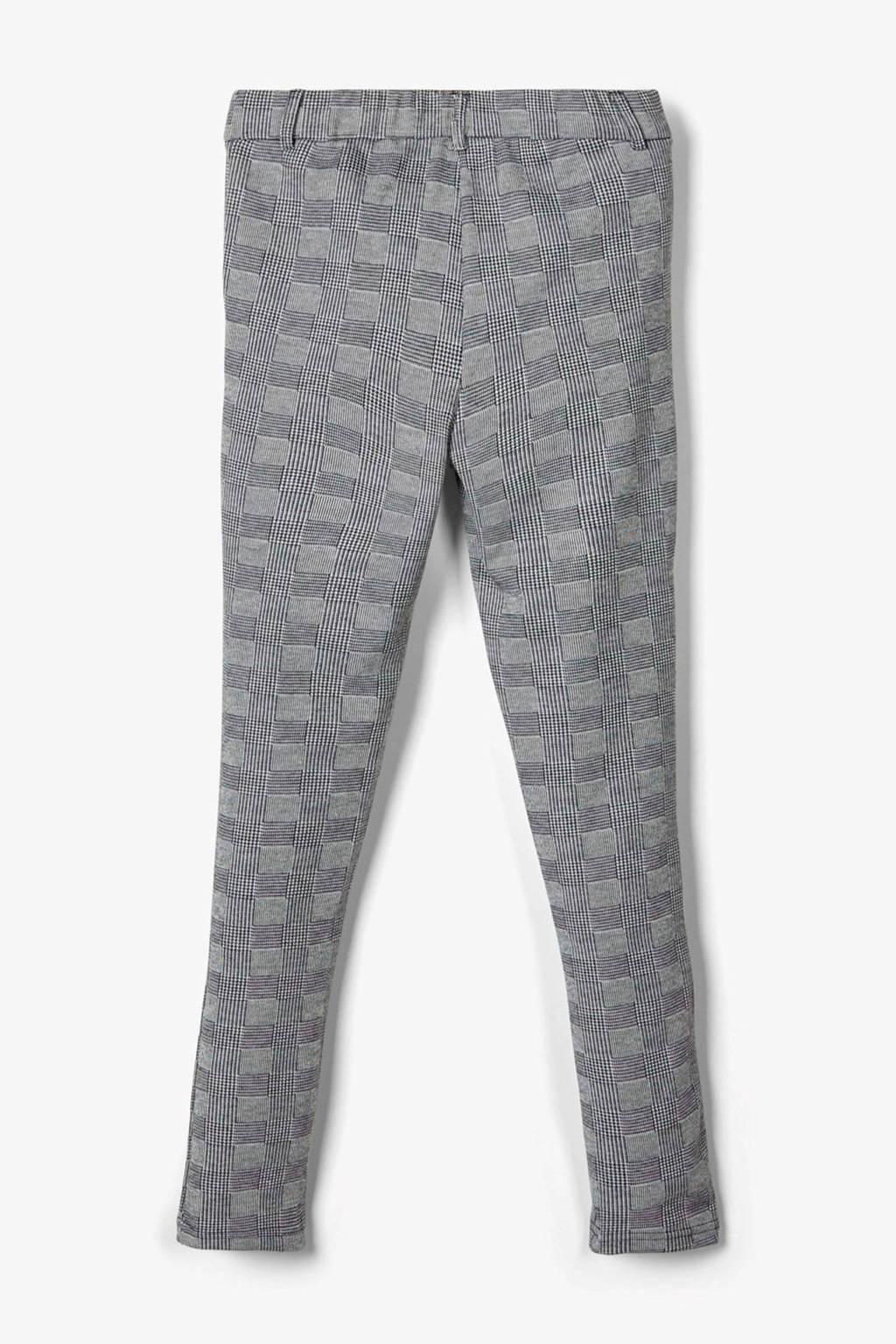 LMTD geruite slim fit broek Dack zwart/wit, Zwart/wit