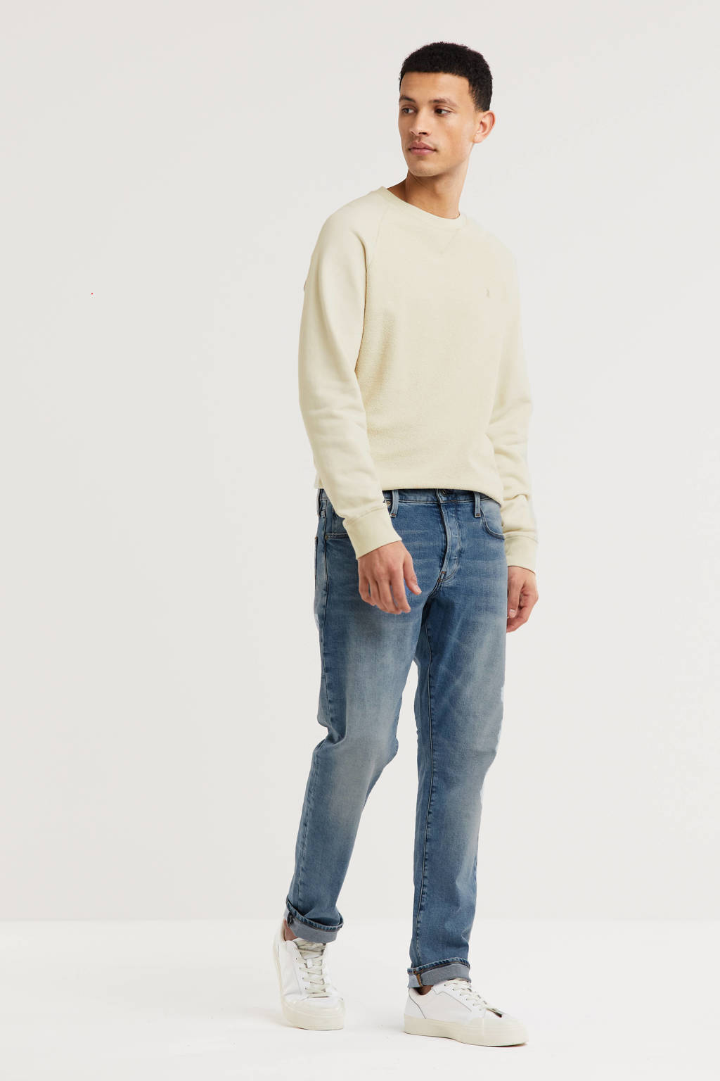 G-Star RAW 3301 straight tapered fit jeans lt indigo aged