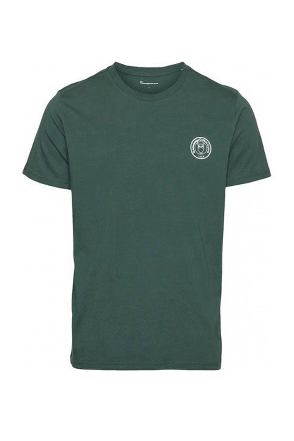 Knowledge Cotton Apparel T-shirt met printopdruk groen, Groen