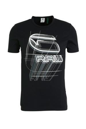 T-shirt met printopdruk zwart/wit