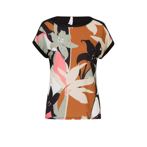 Miss Etam Regulier top met all over print en glitt