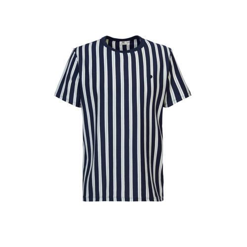 America Today gestreept T-shirt dark blue