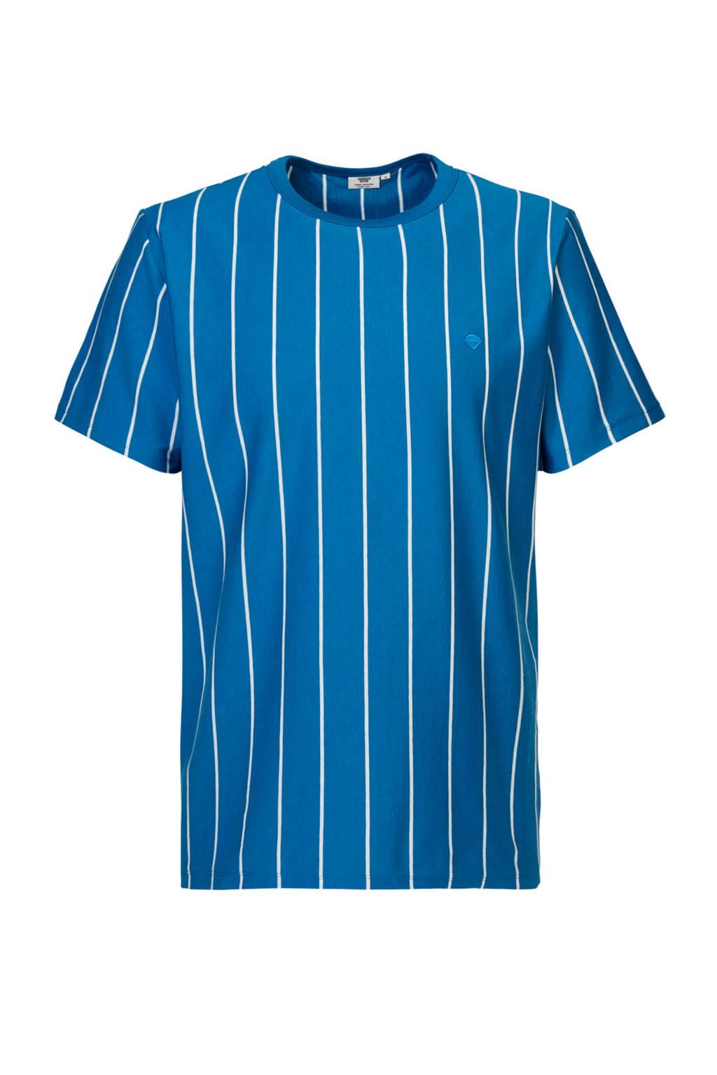 America Today gestreept T-shirt blue