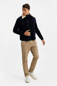 WE Fashion corduroy jack donkerblauw, Donkerblauw