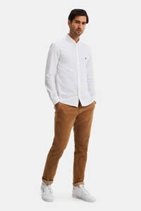 WE Fashion corduroy slim fit chino camel, Camel