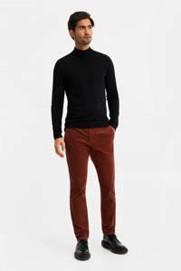 WE Fashion corduroy slim fit chino roodbruin, Roodbruin