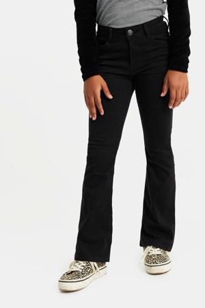 super skinny flared fit jeans zwart