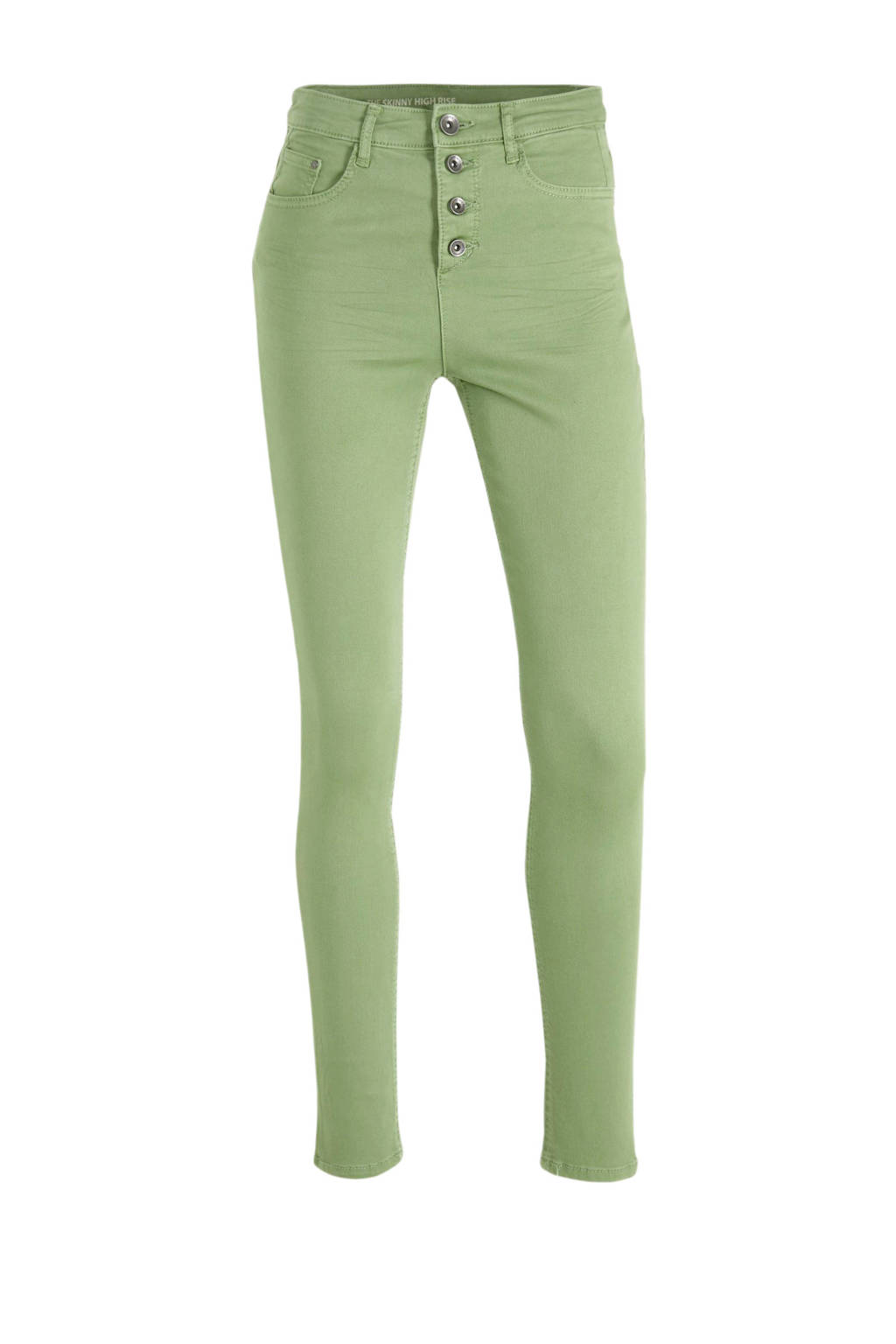 C&A Yessica high waist skinny jeans groen, Groen