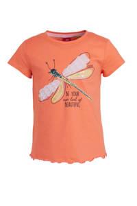 s.Oliver T-shirt met printopdruk en pailletten rood, Rood