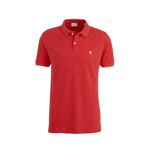 Knowledge Cotton Apparel slim fit polo rood