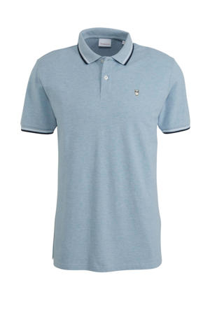 slim fit polo grijs