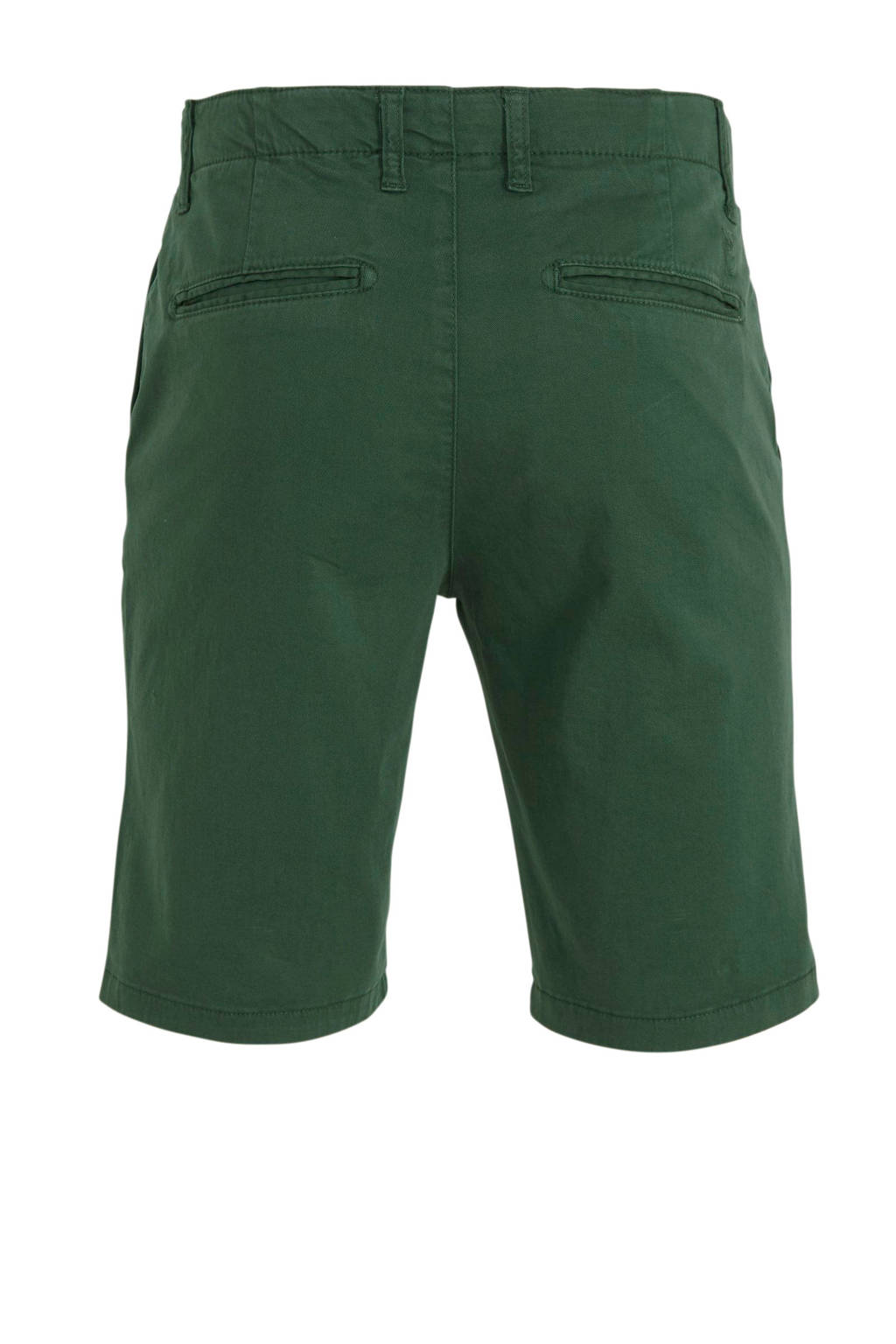 Knowledge Cotton Apparel slim fit bermuda groen, Groen