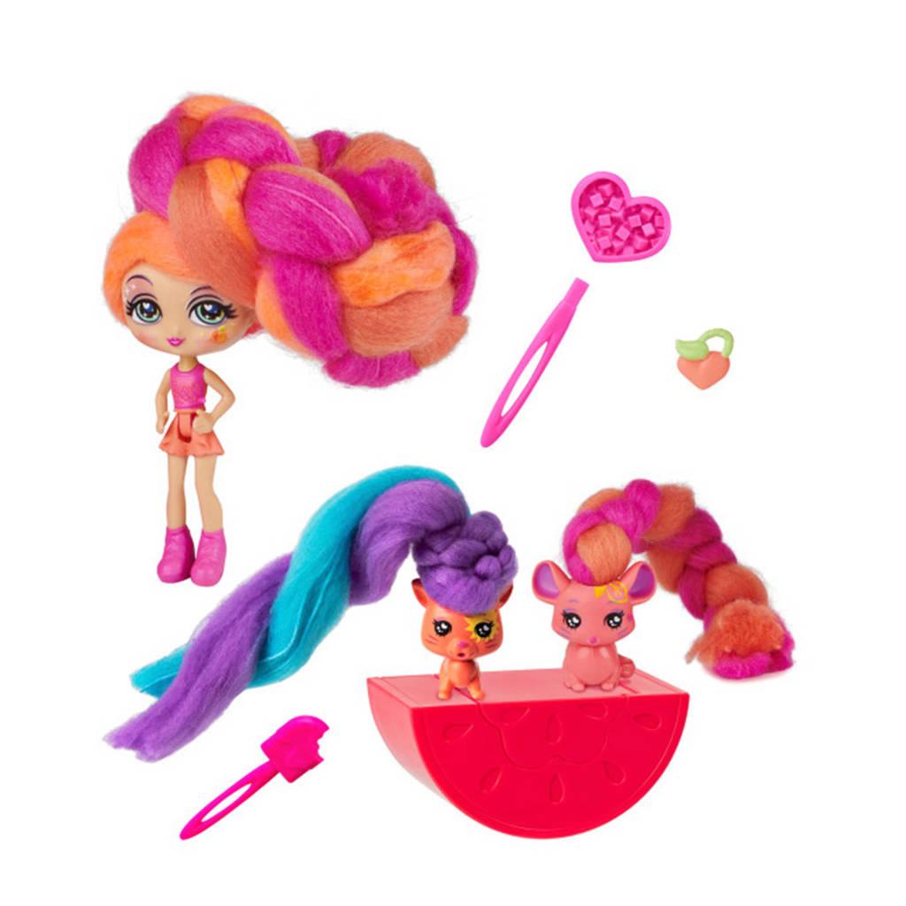 Candylocks  Doll & 2 Pets Posie Peach