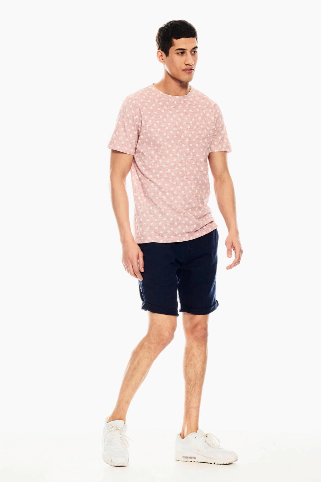 Garcia T-shirt met all over print oudroze, Oudroze