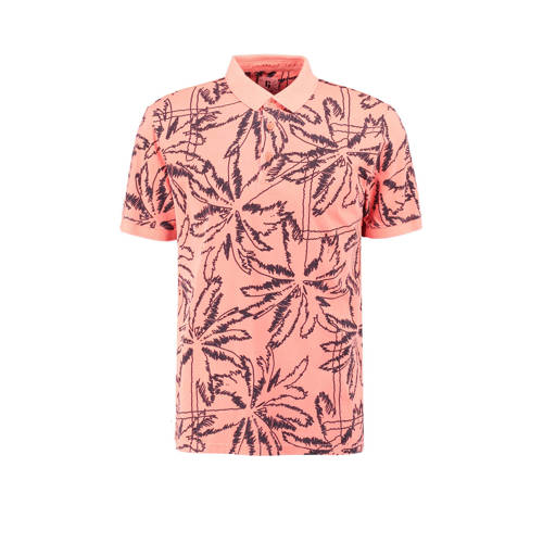 Garcia slim fit polo met all over print zalm