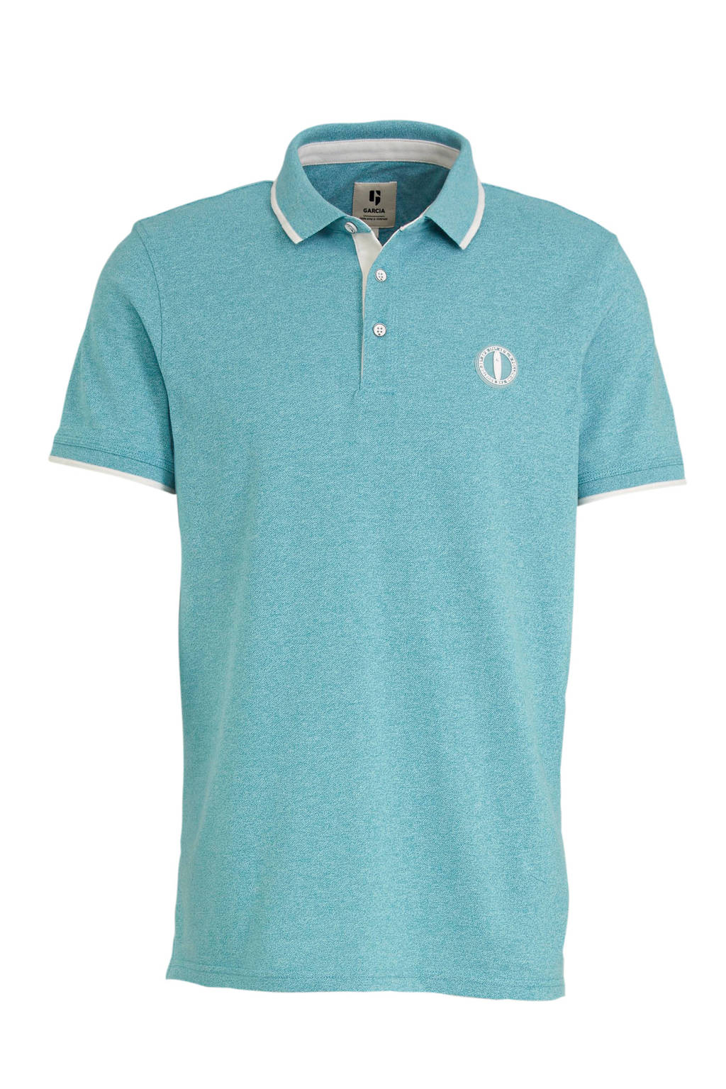 Garcia slim fit polo turquoise, Turquoise