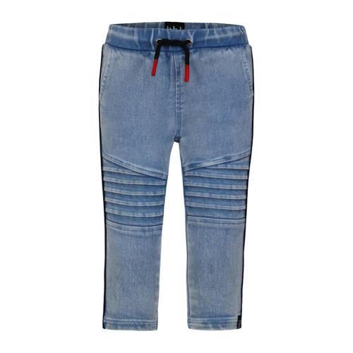 Beebielove skinny broek met textuur blauw
