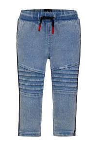 Beebielove skinny broek met textuur blauw, Blauw
