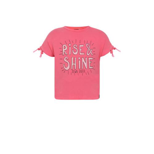 Beebielove T-shirt met tekst roze