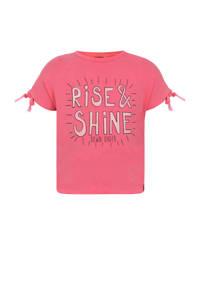 Beebielove T-shirt met tekst roze, Roze