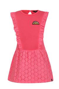 Beebielove jersey jurk met ruches roze, Roze