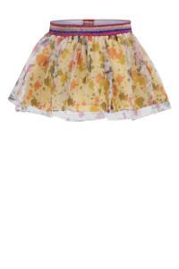 Beebielove rok met all over print en glitters okergeel/roze/blauw, Okergeel/roze/blauw