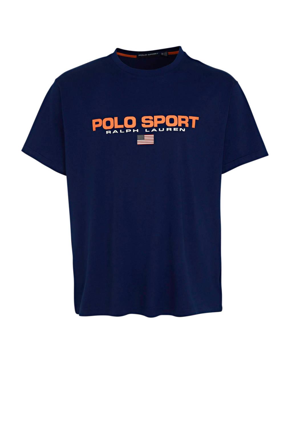 POLO Ralph Lauren Big & Tall +size T-shirt met logo kobaltblauw, Kobaltblauw
