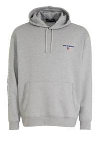 POLO Ralph Lauren Big & Tall +size hoodie met logo grijs, Grijs