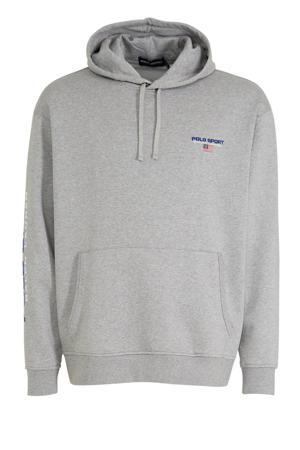 +size hoodie met logo grijs