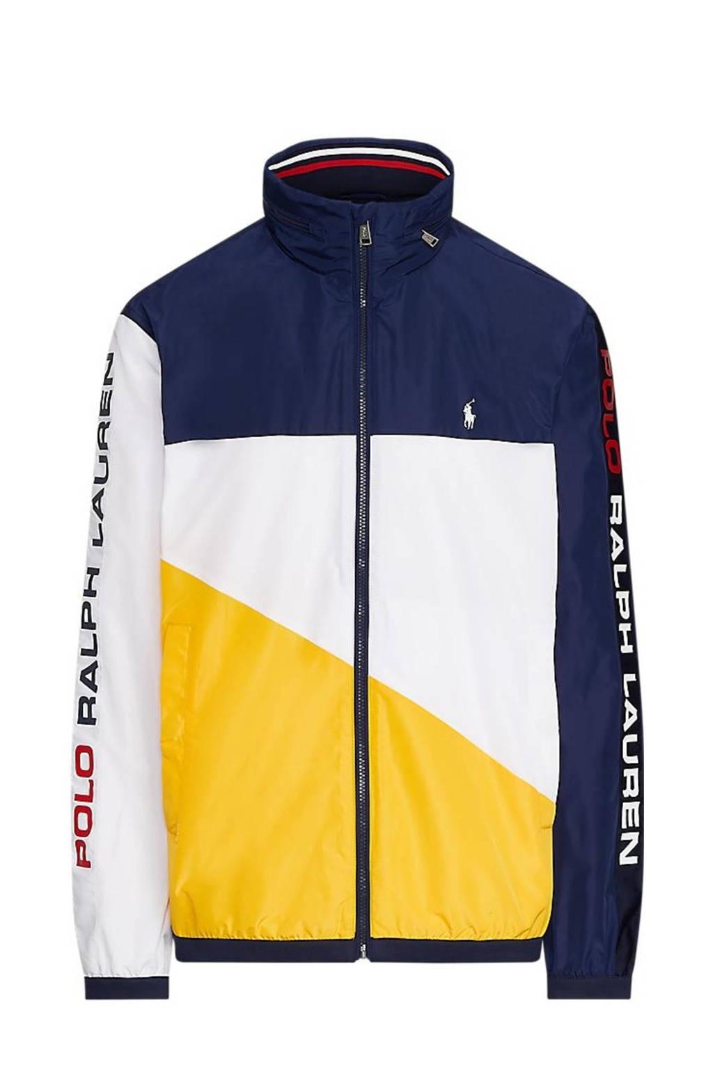 POLO Ralph Lauren Big & Tall +size zomerjas donkerblauw/wit/geel/rood, Donkerblauw/wit/geel/rood