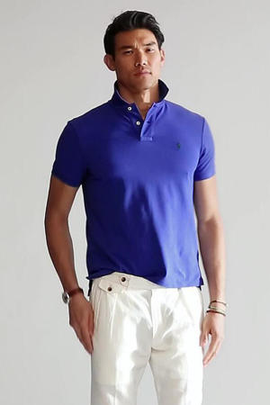 +size regular fit polo blauw