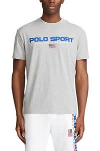 POLO Ralph Lauren Big & Tall +size T-shirt met logo grijs melange, Grijs melange