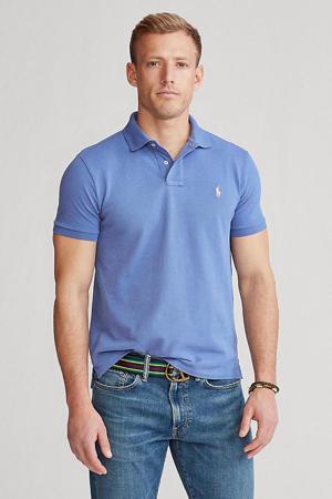 +size regular fit polo lichtblauw