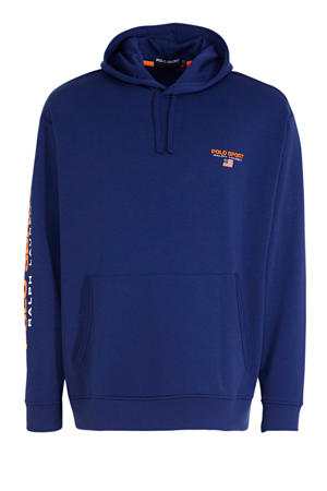 +size hoodie met logo donkerblauw