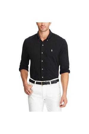 +size regular fit overhemd zwart