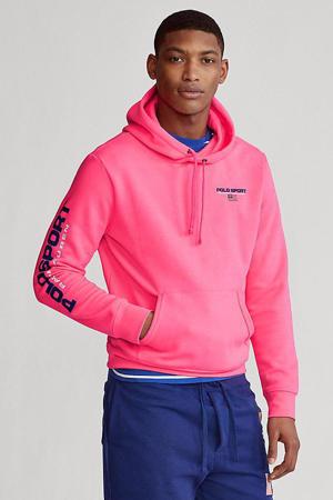 hoodie met tekst roze