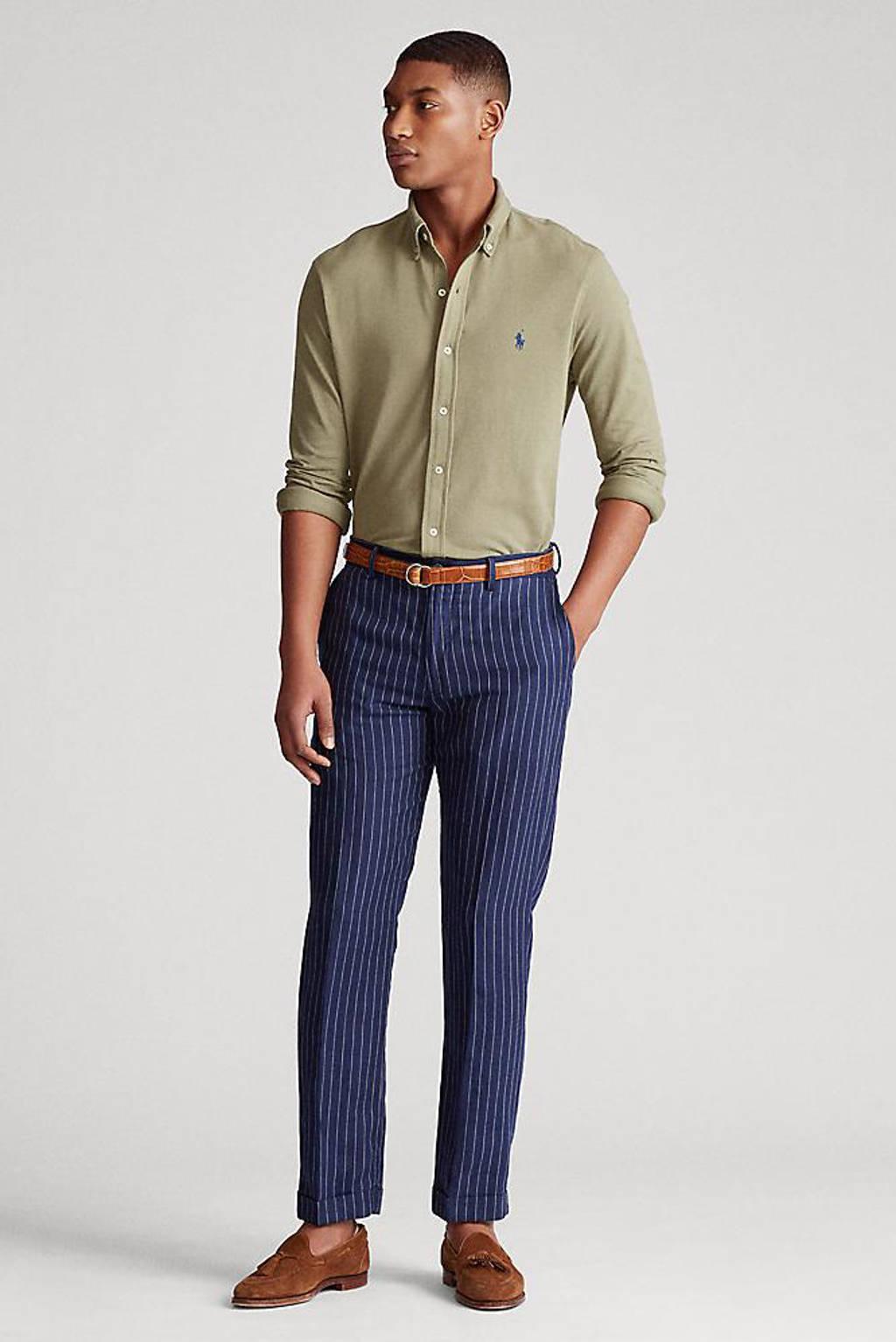 POLO Ralph Lauren slim fit overhemd kaki, Kaki