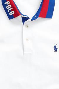 POLO Ralph Lauren regular fit polo met contrastbies wit, Wit