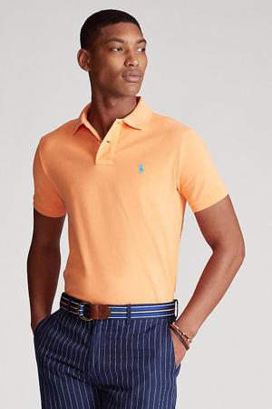slim fit polo licht oranje