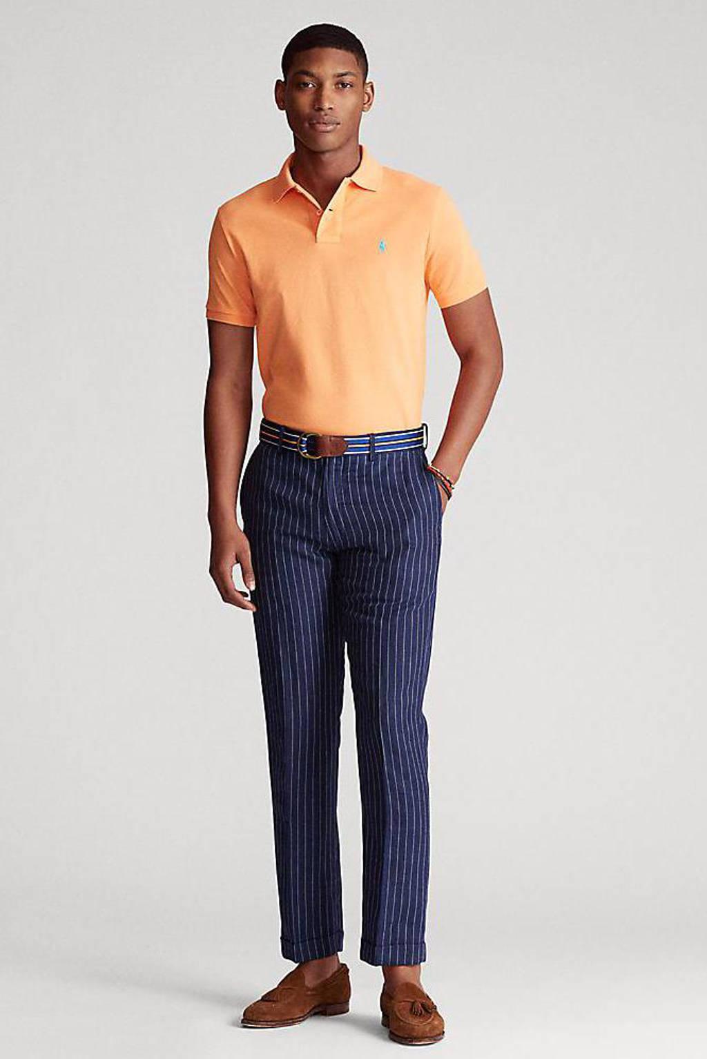 POLO Ralph Lauren slim fit polo licht oranje, Licht oranje