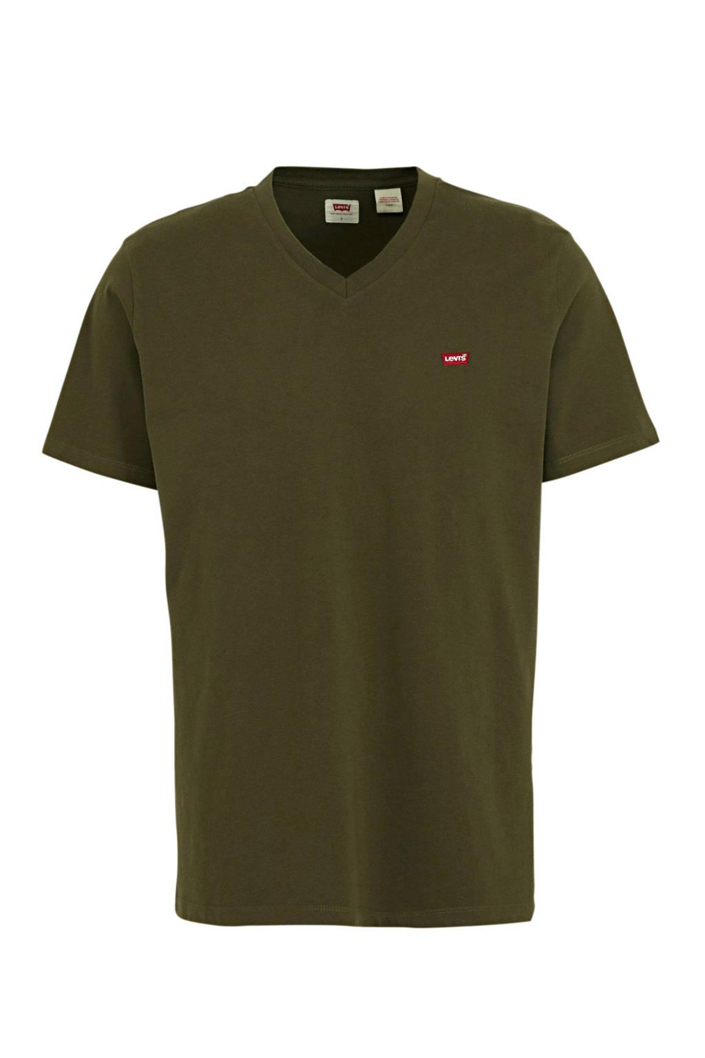 Levi's T-shirt olijfgroen, Olijfgroen