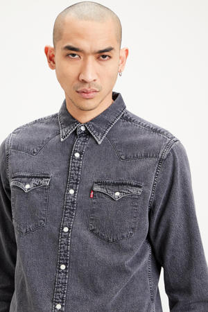 regular fit overhemd marble black