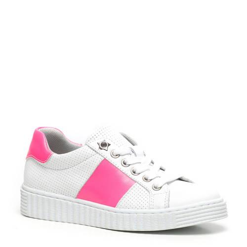 Scapino Groot leren sneakers wit/roze