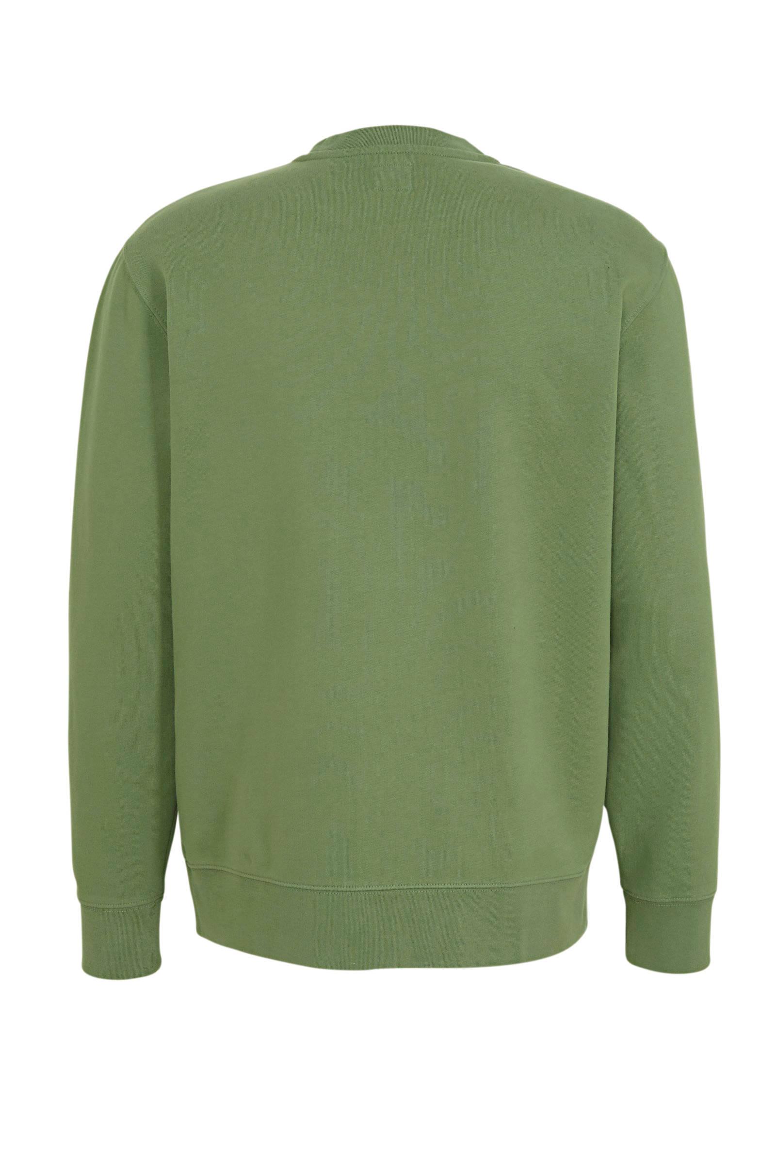 Levi's sweater met logo groen | wehkamp