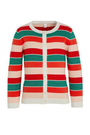 gestreept vest rood/wit/groen