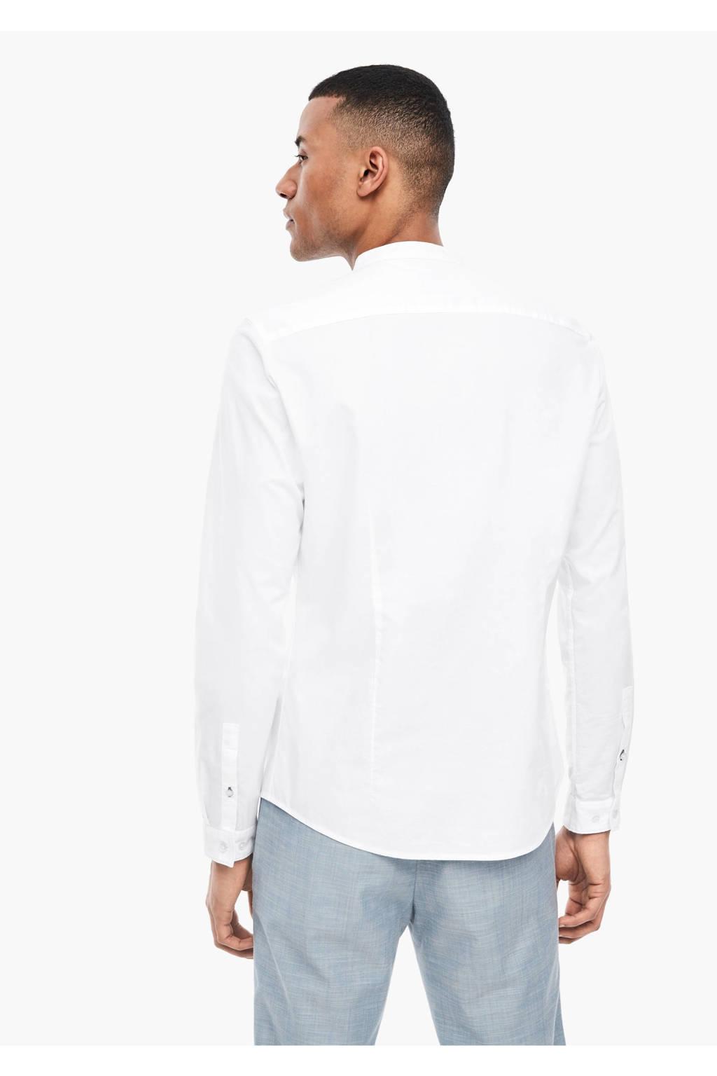 s.Oliver BLACK LABEL regular fit overhemd wit, Wit